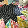 Show me what's on your machine right now :) I am quilting quilting quilting! Fabric is Fancy Free by Lori Whitlock for Riley Blake and background is Madrona Road by @violetcraft for @michaelmillerfabrics. #widrn #quilting #sizzix