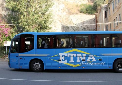 Trem noturno para Taormina