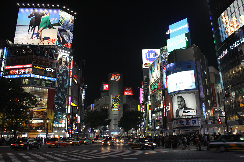 Shibuya Crossing Japan Night