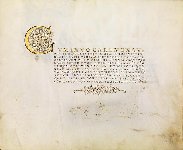 FJ Brechtel calligraphy 16th cent. h
