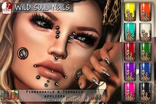 [ S H O C K ] Slink Wild Soul Nails