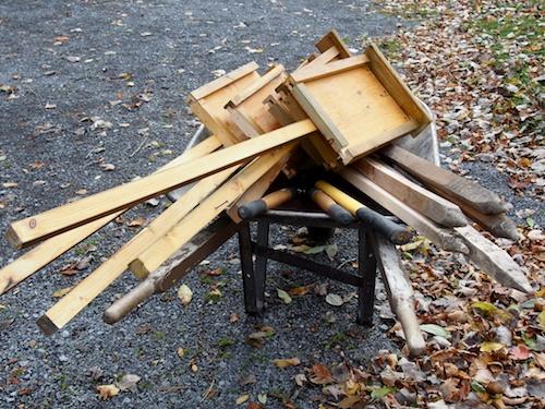 a wheelbarrow of poem material