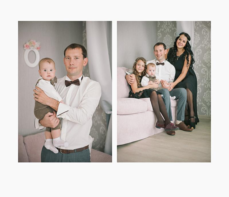 Фотосессия семьи в красивой интерьерной студии, детская фотосъемка