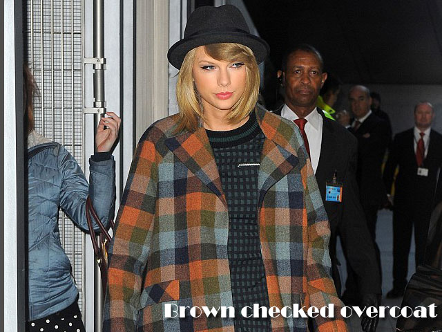 Brown-checked-overcoat,checked coat,  checked dress, brown checked overcoat, checked overcoat, checked knit dress, knit dress, checked coats, checks trend, coats, autumn-winter coats