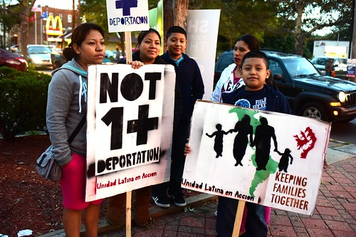 Not One More Deportation!: Unidad Latina en Acción and the Latino community respond to the release of the Destructive Delay Report: Rally and press conference: Grand Avenue and Ferry Street, New Haven, Connecticut, Thursday, October 9, 2014.