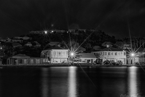 west st night french harbor long exposure harbour indies barths gustavia barthelemy