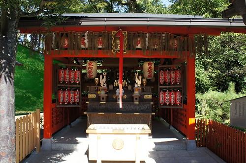 京都 地主神社 栗光稲荷