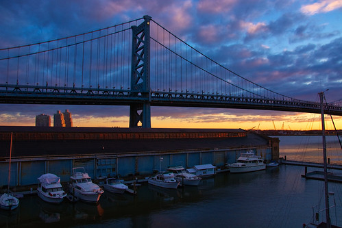 sunrise benfranklinbridge