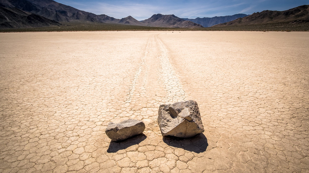 Moving stones in Racetrack, Death Valley, United States picture