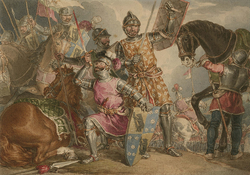 Depiction of at the Battle of Towton in Play King Henry VI, by John Augustus Atkinson