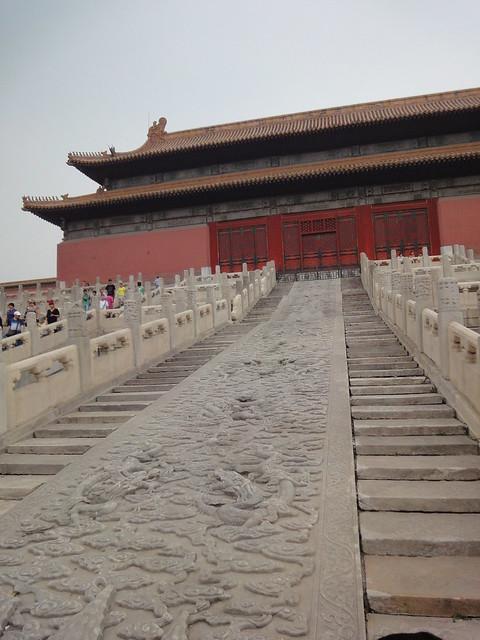 Dalle impériale dans la Cité interdite à Beijing