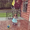 Things to do on a rainy day. Chase bubbles.