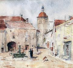 Orgelet - La place du bourg de Merlia