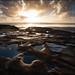 Rock pool sunset by katepedley