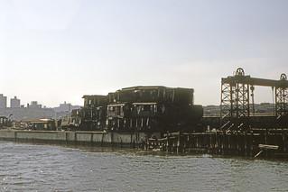 Found Photo - US NY NYC Harlem River - Subway car scrapping at 207th St. Yard 2 - October 1969