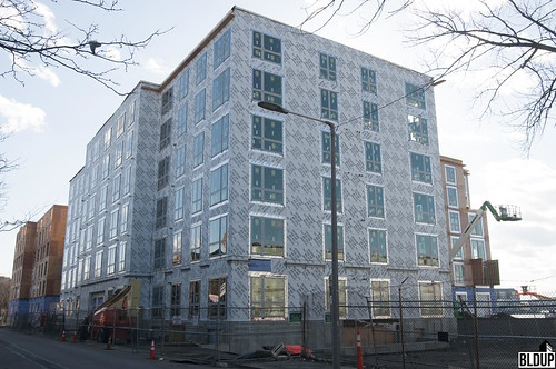 Bldup - Fireproofing underway at Boston East, framing just about ...