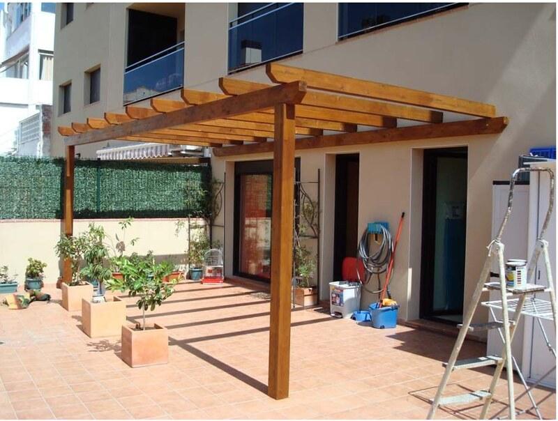 roof garden madera pergola instalacion profesional