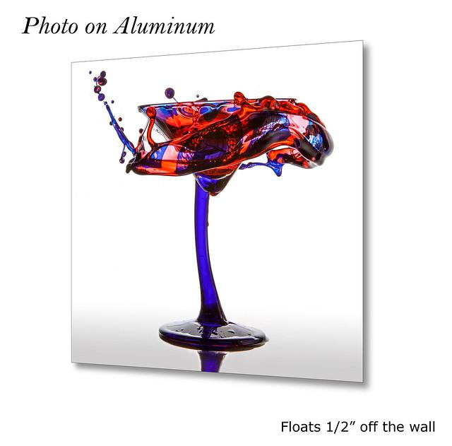 Blue & Red Martini Splash #0780   ©2017 - LiquidsinMotion.us.com
