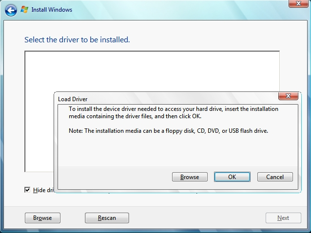 Hướng dẫn Load Driver khi cài Windows - Fixes Load Driver & Missing CD/DVD drive device driver