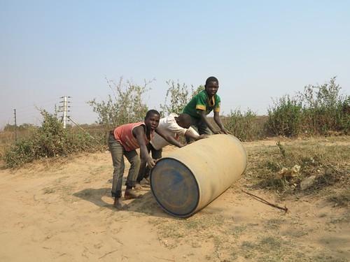 Carrying Water Home in Chazanga, Lusaka