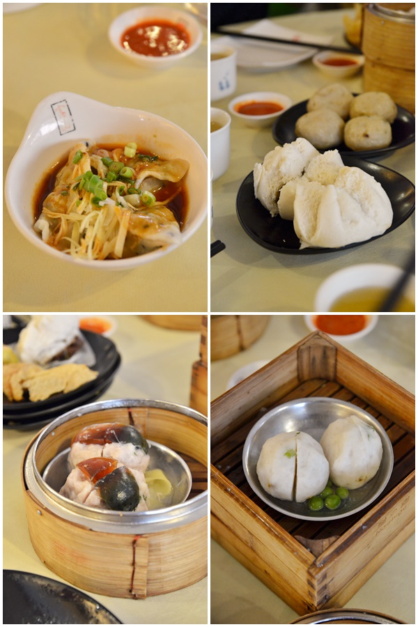 Chili  Dumplings, Char Siew Bao, Century Egg Fish Paste & Yue Mai
