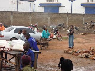 Pork on sale in Wambizzi area of Kampala, Uganda