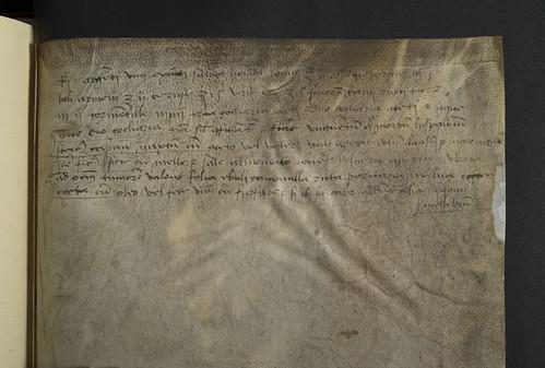 Rear pastedown with manuscript notes in Savonarola, Michael: Practica medicinae, sive De aegritudinibus