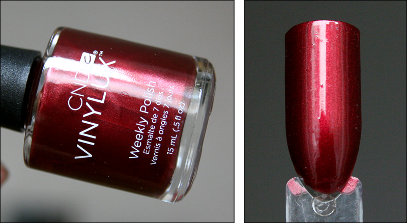 CND Crimson sash swatch