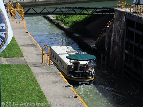 The packet boat leaving Lock 32, Erie Canal Path, Rochester, New York.