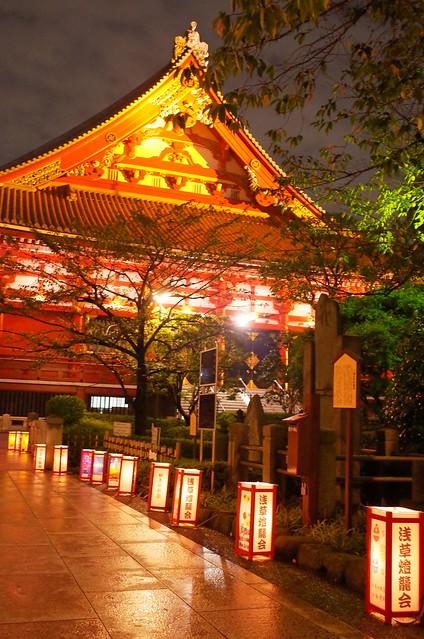 Asakusa lantern night 01