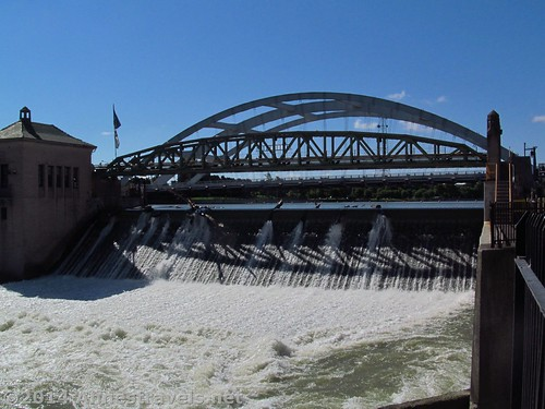 The dam in downtown Rochester, New York