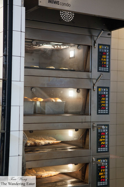 The bakery's ovens