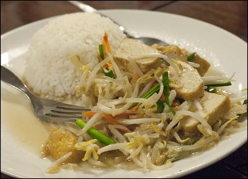 Vegetarian dinner at Kopitiam