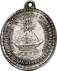 Erding. Pilgrimage Church Holy Blood. Silver pendant reverse