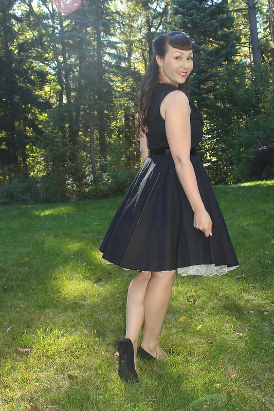 black lindy bop dress