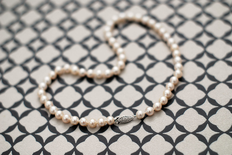 Classic freshwater pearl necklace (choker)