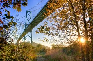 _MG_1056 Lions Gate Bridge Autumn Sunset