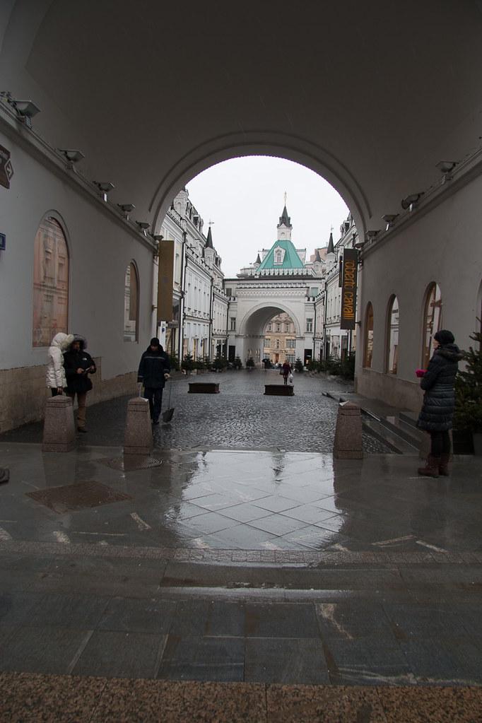 Side Street off Nikolskaya Street in Moscow