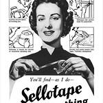 1953 Sellotape ad