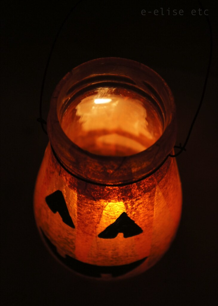 diy halloween pumpkin lantern tutorial