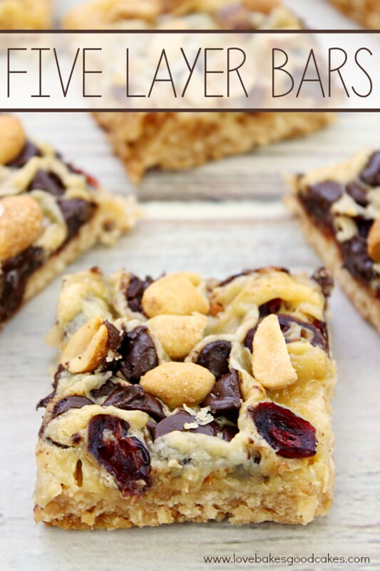 Five Layer Bars - easy and delicious!