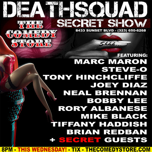 DEATHSQUAD SECRET SHOW - THE COMEDY STORE 10/1/2014