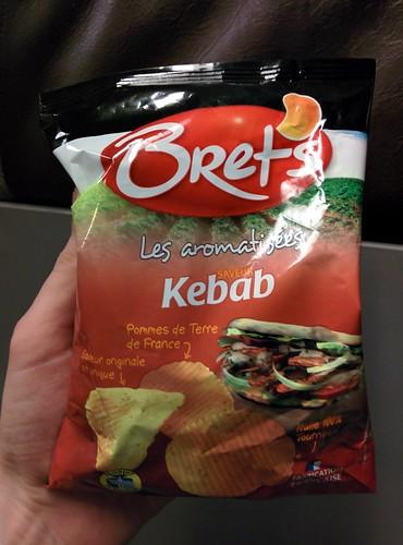 Kebab flavour crisps