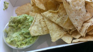 Guac and Chips from Mad Mex at the airport