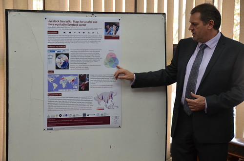 Tim Robinson at poster session by the Research Methods Group