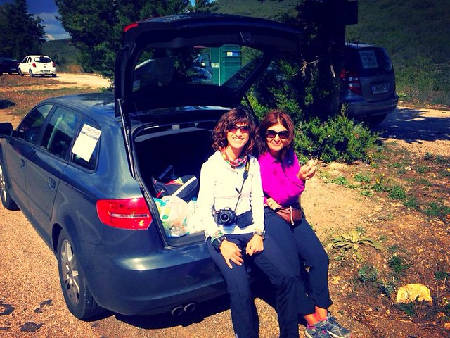 Alessia and Suna. When you put the support car stickers to your car, evey door is opened.