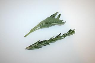 04 - Zutat Salbei & Rosmarin  / Ingredient sage / rosemary
