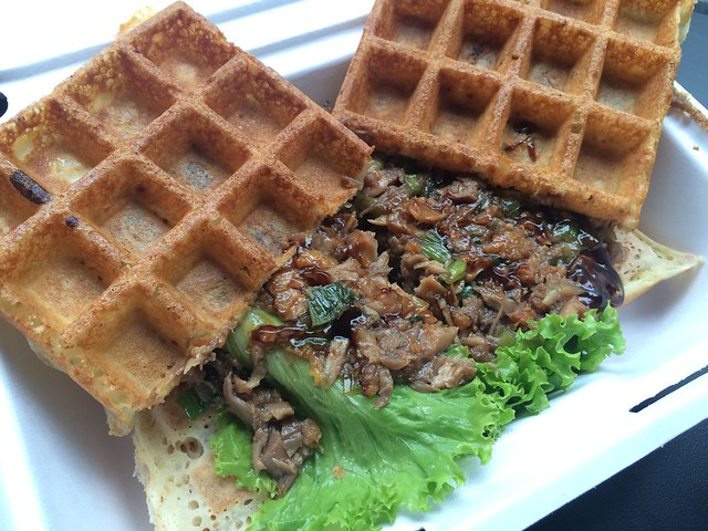 Peking duck waffle - Wicked Waffle