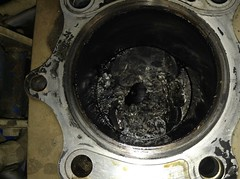 Suzuki DR350 fried piston