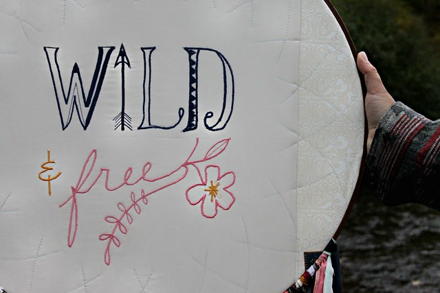 Wild & Free embroidery
